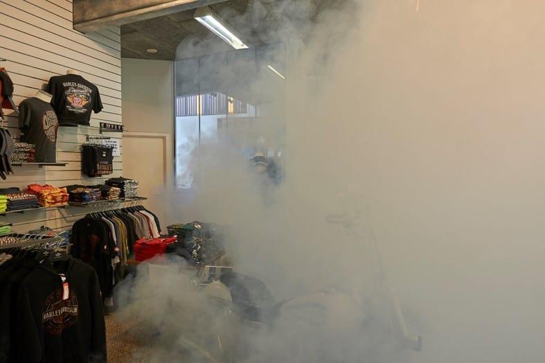 Sikkerhedståge sikrer dyre Harley-Davidson jakker